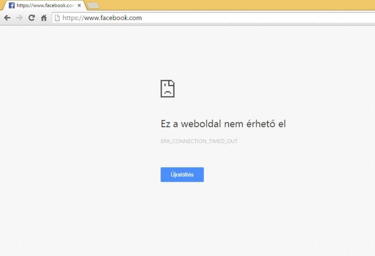 Itt a világvége? Meghalt a Facebook