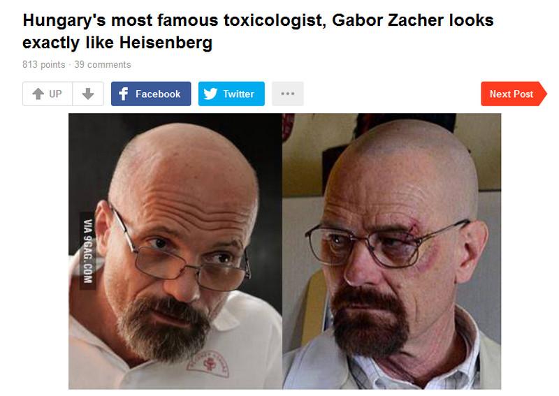 Heisenberg él és virul! A neve: Zacher Gábor toxikológus