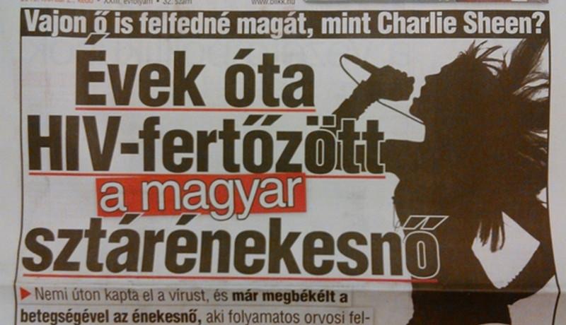 HIV-fertőzött egy magyar sztárénekesnő