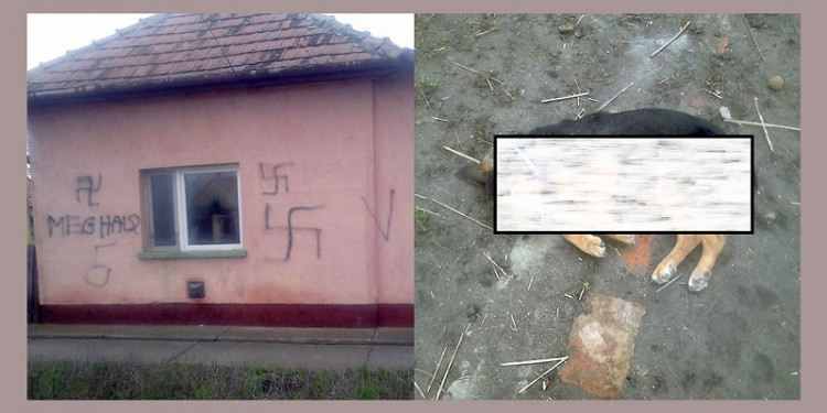 Halálos fenyegetést és horogkeresztet festettek egy családi házra