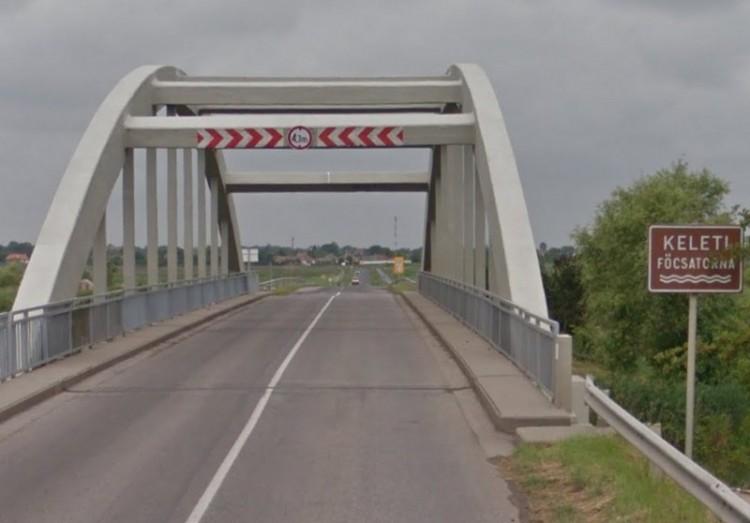 Újabb baleset a Keleti-főcsatorna hídján