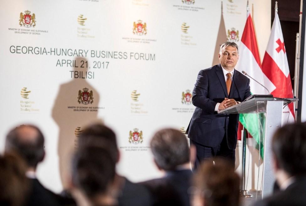 Orbán ellen és mellett is tüntettek Grúziában
