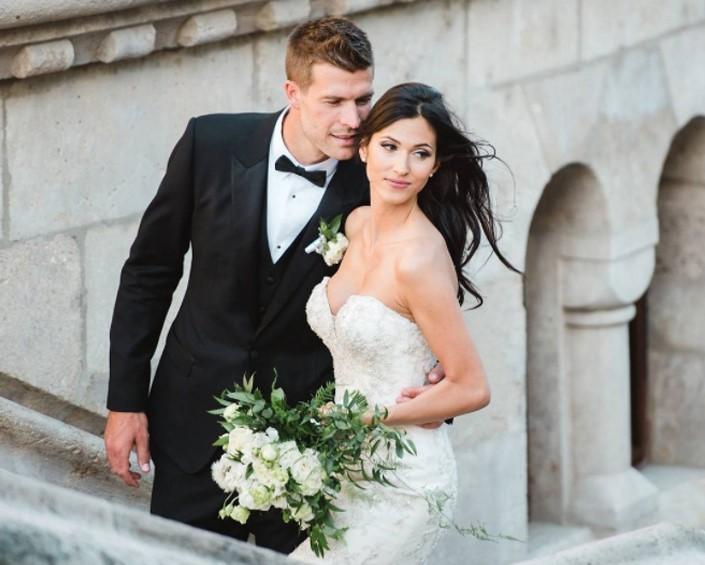 Álomesküvő: a magyar szépség és a gólkirály egybekelt