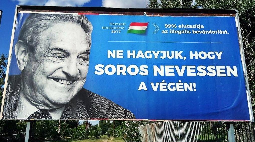Megszólalt Soros az arcképét használó plakátkampányról