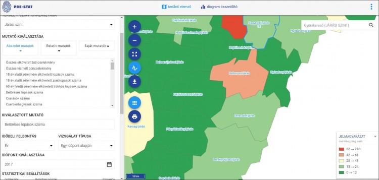 Hol van a legtöbb szexuális erőszakos eset a megyében?