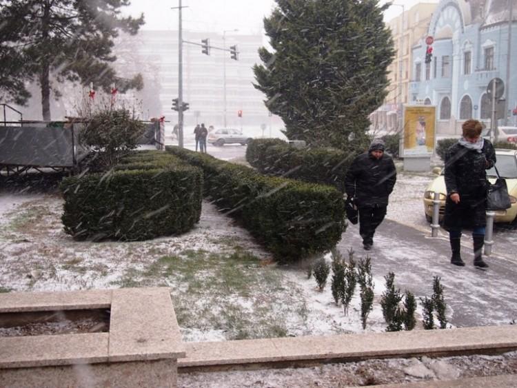 Szakad a hó Nyíregyházán