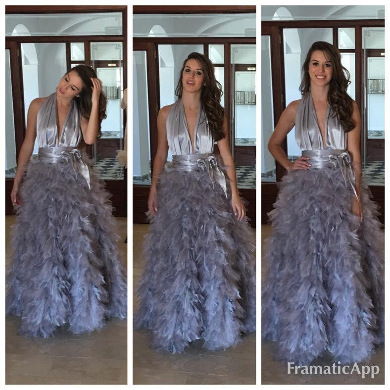 Spanyol szépség a szomszédvárból választott ruhakölteményt, és ő lett Miss Intercontinental Spain