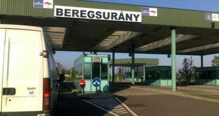 Lezárták a 41-es főutat aberegsurányi magyar-ukrán határátkelőnél