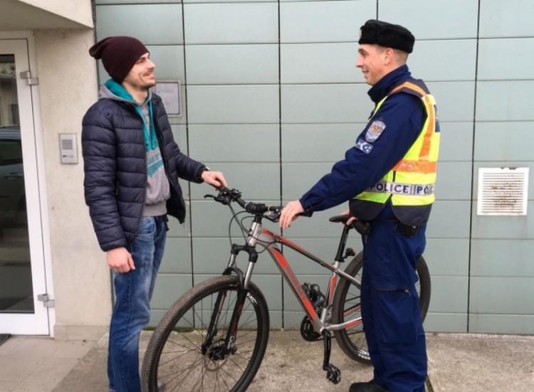 Visszakerült nyíregyházi gazdájához az értékes bicikli