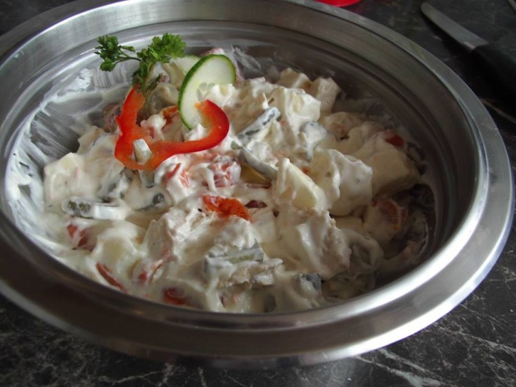 Recept: majonézes csirkemell saláta