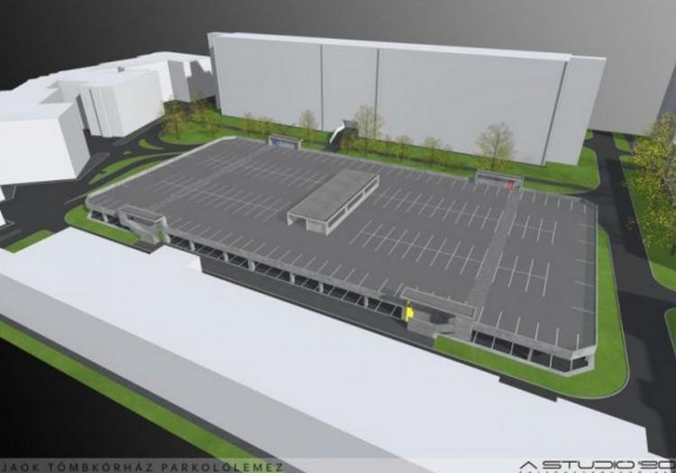 Mindjárt kész a nyíregyházi kórház parkolóháza