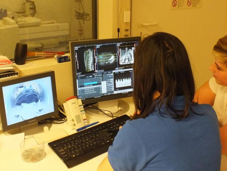 Együtt nézik a miskolci és szlovákiai orvosok a CT-leleteket