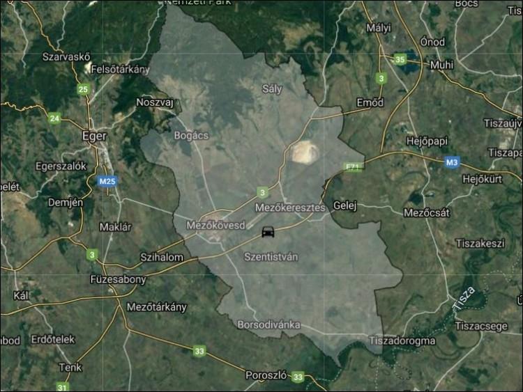 Autók ütköztek Mezőkeresztes közelében