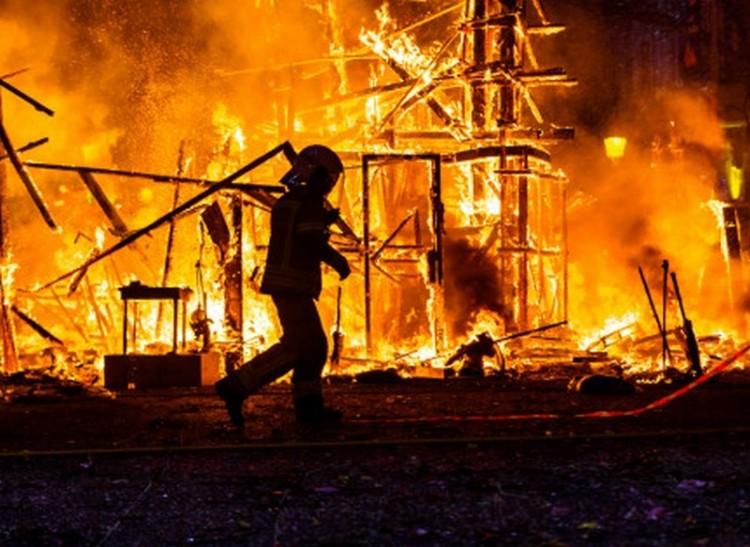 Tűz és robbanás az ózdi éjszakában