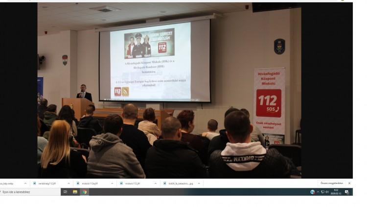 Miskolcon is népszerűsítették a 112-es segélyhívót