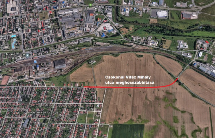 Terelőutat építenek Miskolcon