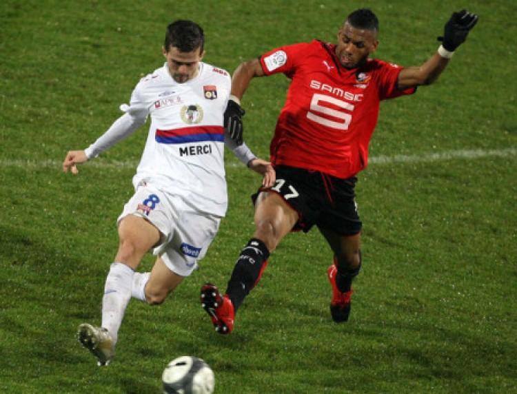 A Rennes-nek sikerült a pontszerzés Lyonban