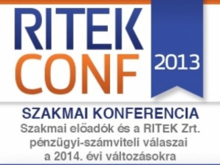 RITEKCONF 2013 – konferencia a pénzügyi-számviteli jogszabályváltozásokról