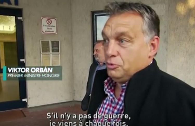 Orbán Viktort csak a háború tartaná távol a szerelmétől