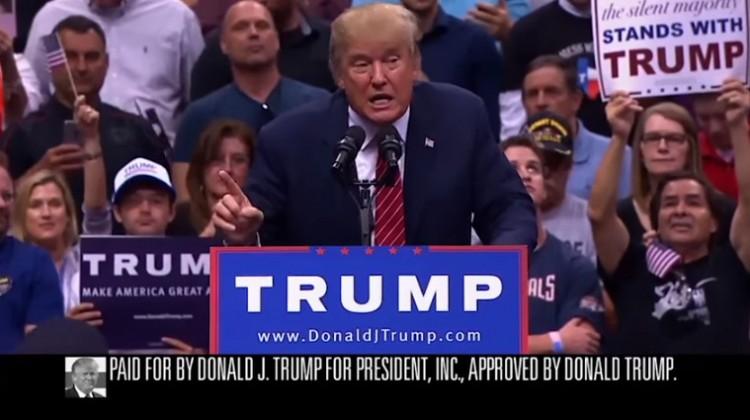 Íme, a keményvonalas elnökjelölt-aspiráns első televíziós reklámja