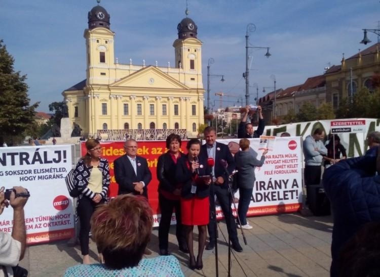 Botrány tört ki az MSZP debreceni rendezvényén