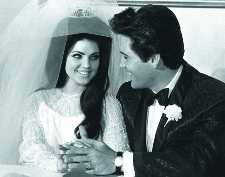 Image result for Elvis Presley és Priscilla Beaulieu 1967 wedding dress