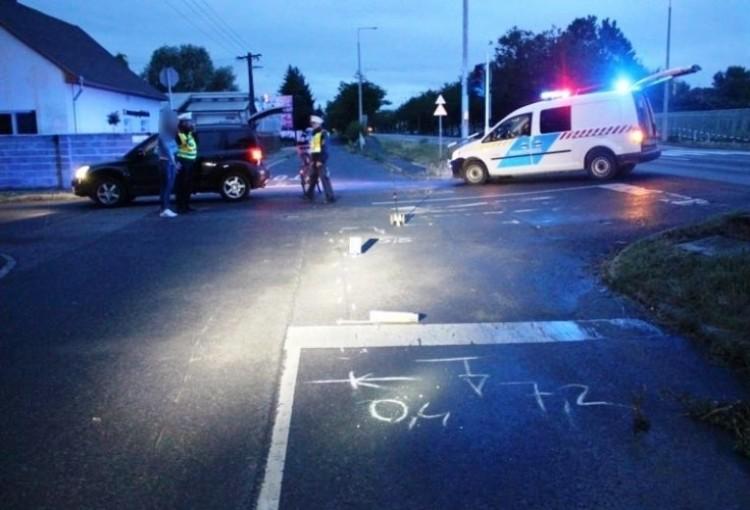 Biciklisgázolás Debrecenben - a biciklis hibájából