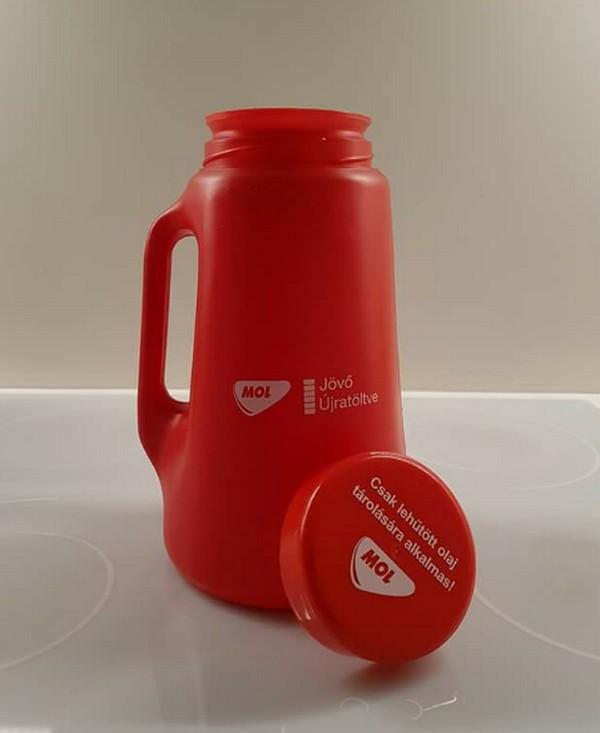 Fotó: Ilyen tárolót kapunk ajándékba a környezettudatosságért cserébe a MOL-tól, facebook.com