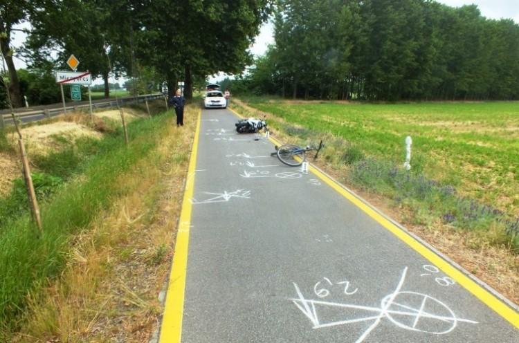 Durva baleset a debreceni kerékpárúton