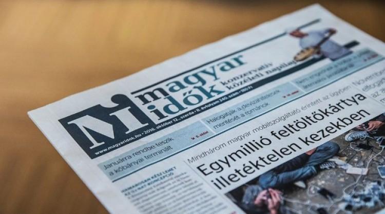 Megszűnik a kormány lapja, a Magyar Idők