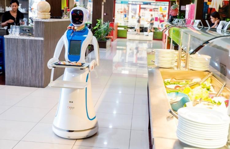 Robotpincér szolgál ki egy magyar étteremben