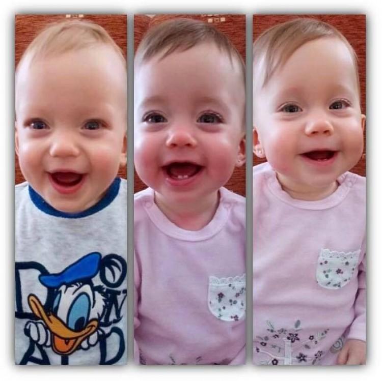 Lassan egy éve, hogy a hármas ikrek megszülettek