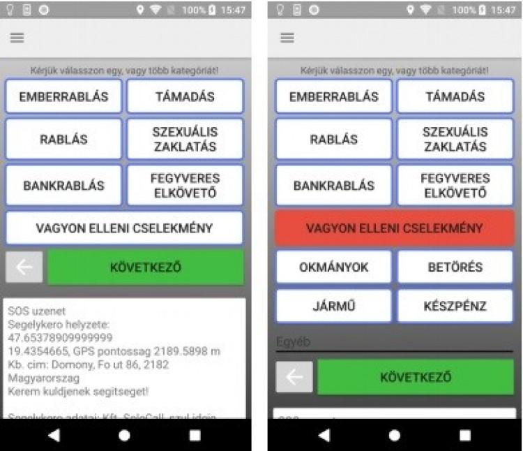 Vészhelyzet esetén SMS-ben is értesítheti a rendőrséget