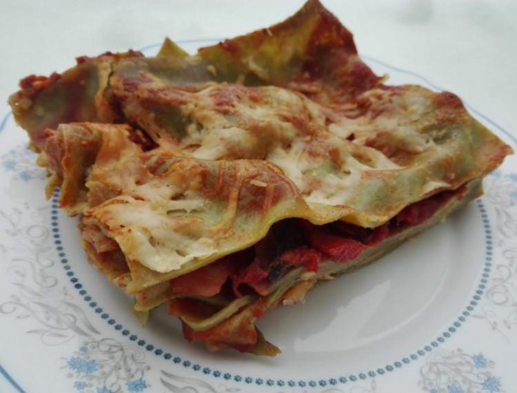 Recept: zöldséges lasagne