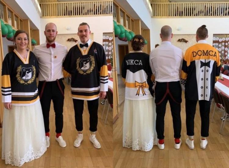 Láttak már menyasszonyi ruhán DEAC-mezt?