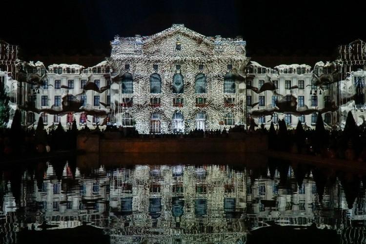 Ilyen volt a fényfestés a Debreceni Egyetemen +videó