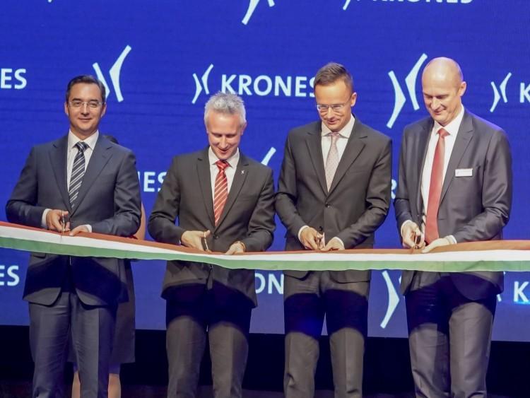 Átadták a Krones gyártóüzemét Debrecenben