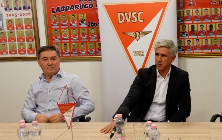 Szima Gábor bemutatta a DVSC új vezetőedzőjét