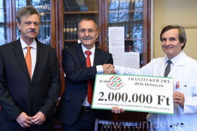 Kétmillió forint a debreceni nagyvállalat ajándéka a köznek