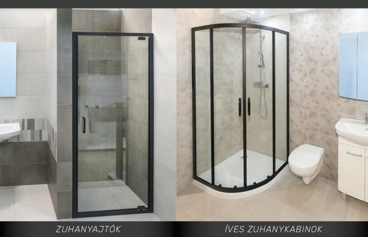 Exkluzív megjelenésű zuhanyajtók, zuhanykabinok a Gulyás Tüzépen