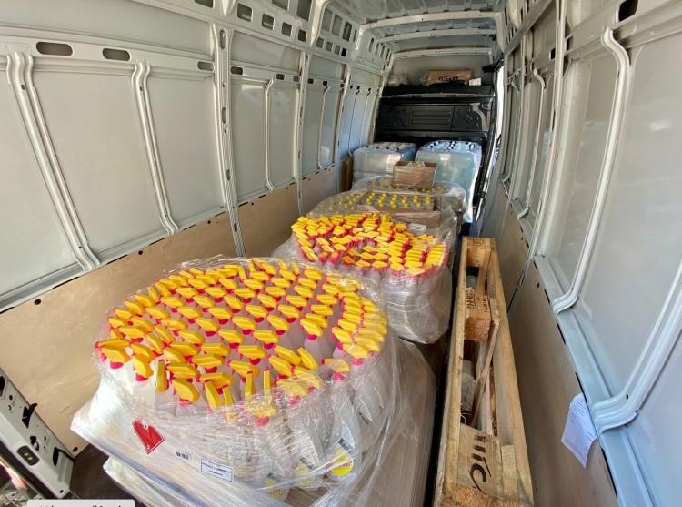 Ezer flakon fertőtlenítőszer érkezett Debrecenbe