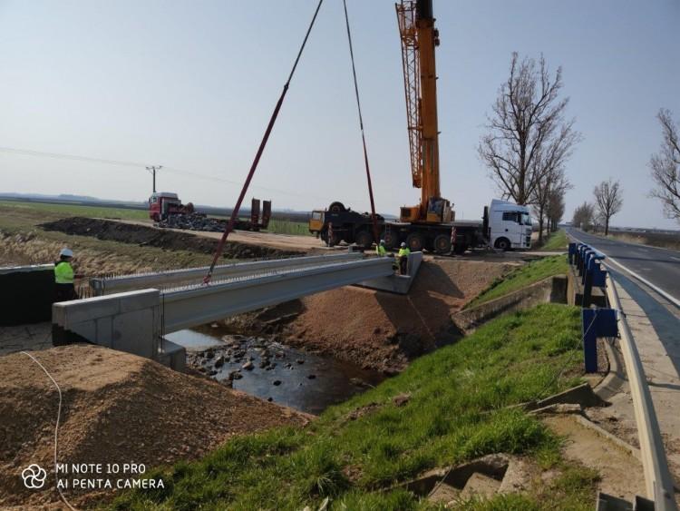 Készül a híd Berettyóújfalu és Tépe között