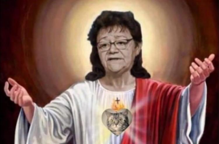 A KDNP az SZDSZ-t látja a Müller Cecíliát Jézusként ábrázoló mém mögött