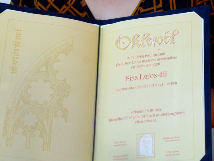 Új Kiss Lajos-díjasa van a Debreceni Egyetemnek