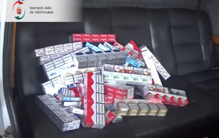 Cigarettacsempészekre csaptak le a pénzügyőrök Ártándnál
