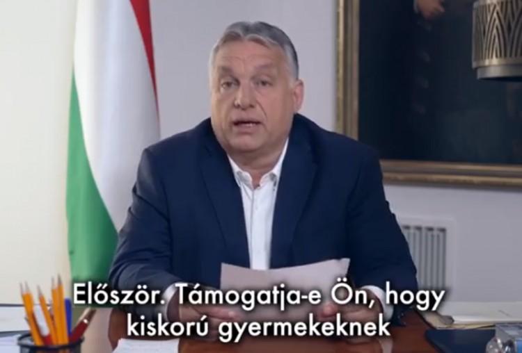 Nemátalakítás gyerekeknek: Orbán népszavazást jelentett be