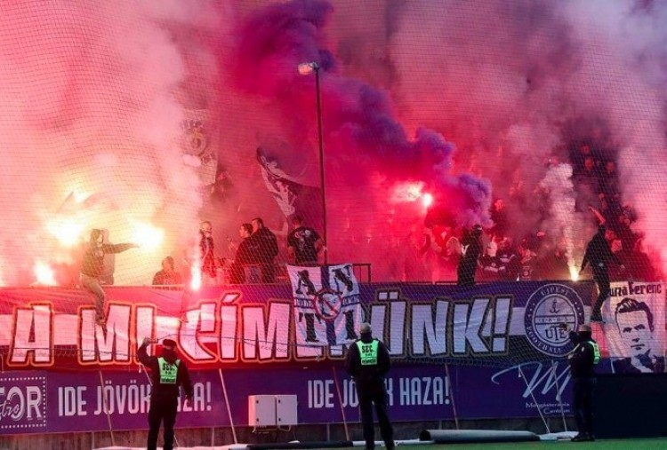 Debrecenben töri meg a lelátói csendet az újpesti keménymag + VIDEÓ!