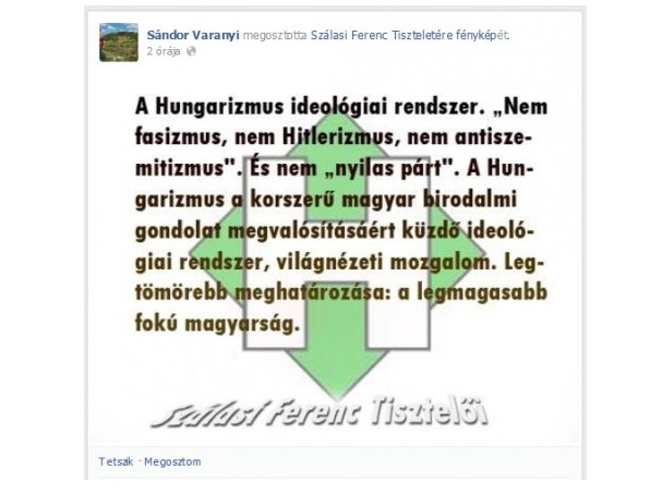 hungarista idézetek Varanyi Sándor: a hungarizmus politikailag korrekt   Cívishír.hu