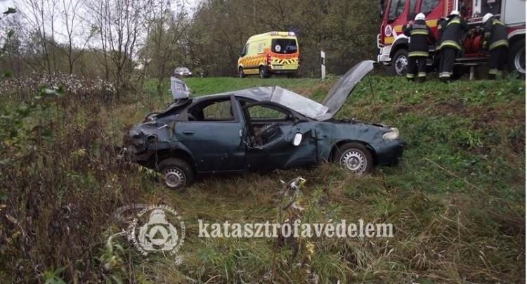 Durva baleset Mátészalkánál: egy fa dőlt rá két autóra (+fotók)