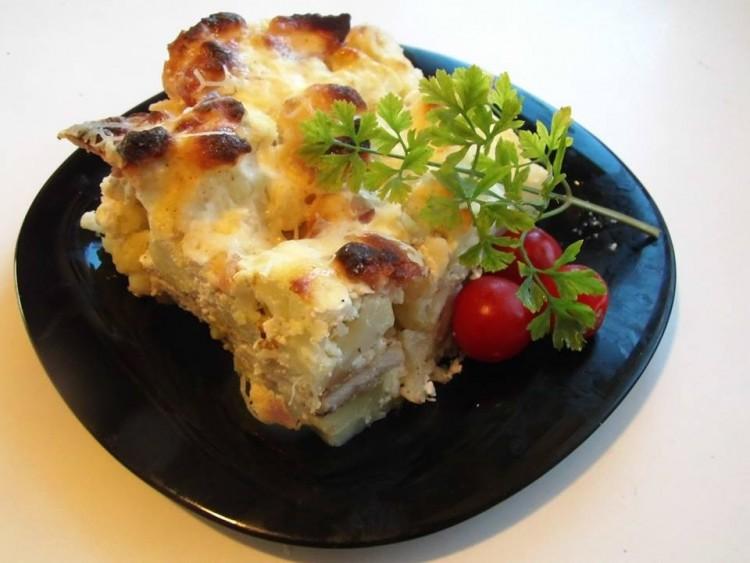 Recept: karfiolos hús csőben sütve